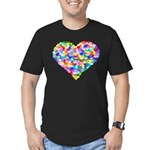 Rainbow Heart of Hearts Men's Fitted T-Shirt (dark