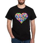 Rainbow Heart of Hearts Dark T-Shirt