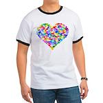 Rainbow Heart of Hearts Ringer T
