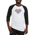 Rainbow Heart of Hearts Baseball Jersey