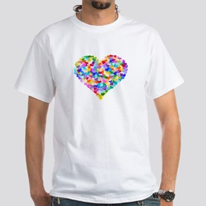 Rainbow Heart of Hearts White T-Shirt