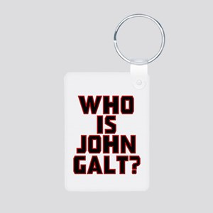 Who is John Galt Aluminum Photo Keychain