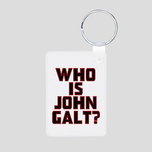 Who is John Galt Aluminum Photo Keychain