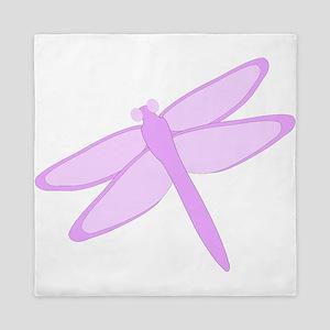 Purple Dragonfly Design Queen Duvet