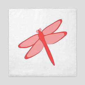 Red Dragonfly Design Queen Duvet