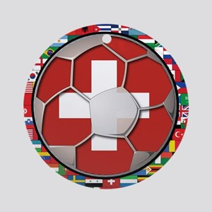 Switzerland Flag World Cup Fo Ornament (Round)