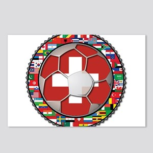 Switzerland Flag World Cup Fo Postcards (Package o