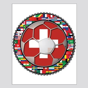 Switzerland Flag World Cup Fo Small Poster