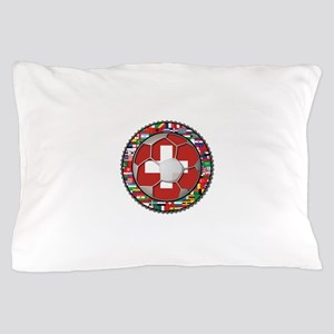 Switzerland Flag World Cup Fo Pillow Case