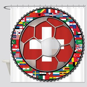 Switzerland Flag World Cup Fo Shower Curtain