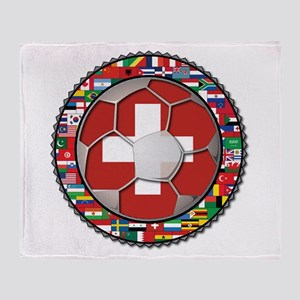 Switzerland Flag World Cup Fo Throw Blanket