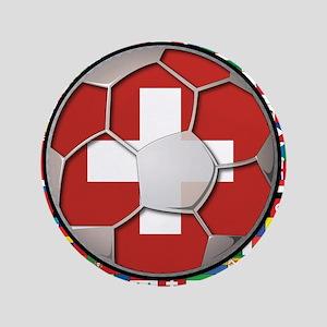 "Switzerland Flag World Cup Fo 3.5"" Button"