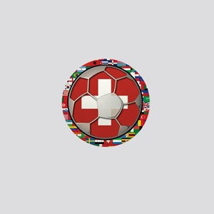 Switzerland Flag World Cup Fo Mini Button