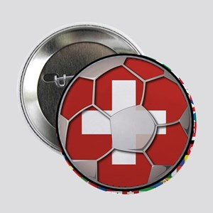 "Switzerland Flag World Cup Fo 2.25"" Button"