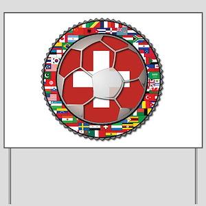 Switzerland Flag World Cup Fo Yard Sign