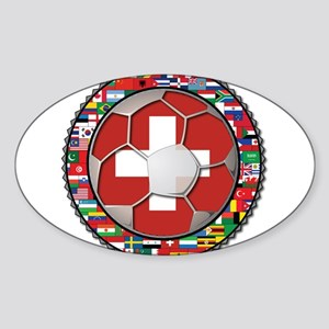 Switzerland Flag World Cup Fo Sticker (Oval)