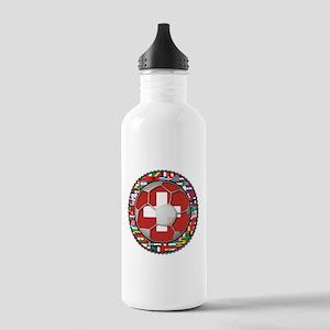 Switzerland Flag World Cup Fo Stainless Water Bott