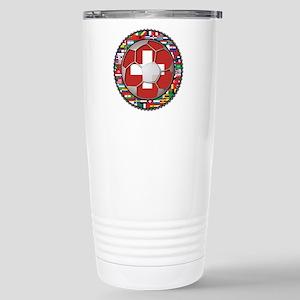 Switzerland Flag World Cup Fo Stainless Steel Trav