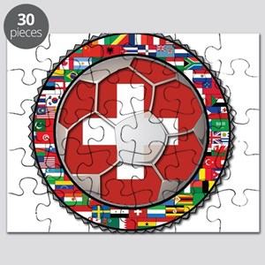 Switzerland Flag World Cup Fo Puzzle
