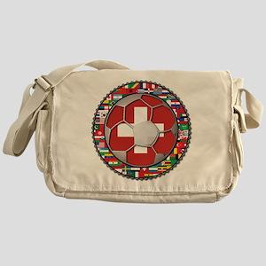 Switzerland Flag World Cup Fo Messenger Bag