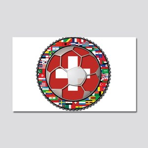 Switzerland Flag World Cup Fo Car Magnet 20 x 12