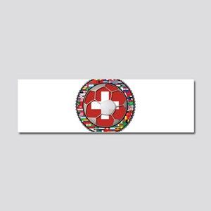 Switzerland Flag World Cup Fo Car Magnet 10 x 3
