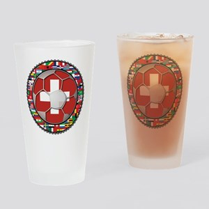 Switzerland Flag World Cup Fo Drinking Glass