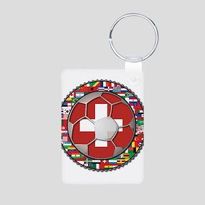 Switzerland Flag World Cup Fo Aluminum Photo Keych