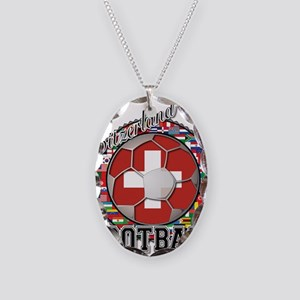 Switzerland Flag World Cup Fo Necklace Oval Charm