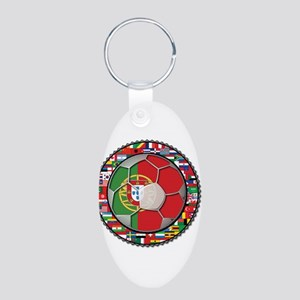 Portugal Flag World Cup Footb Aluminum Oval Keycha