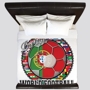Portugal Flag World Cup Footb King Duvet