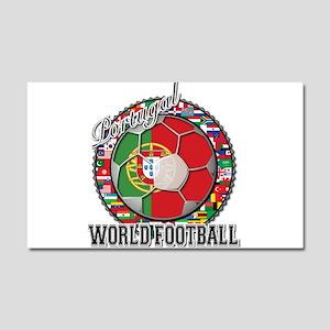Portugal Flag World Cup Footb Car Magnet 20 x 12