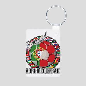 Portugal Flag World Cup Footb Aluminum Photo Keych
