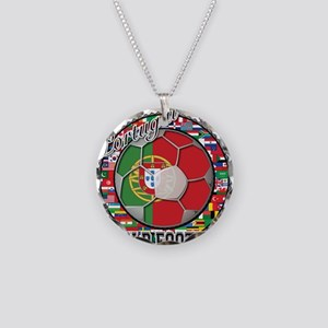 Portugal Flag World Cup Footb Necklace Circle Char