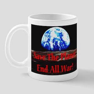 Save The Planet End All War R Mug