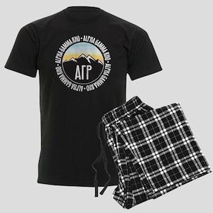 Alpha Gamma Rho Mountains Sunset Pajamas