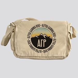 Alpha Gamma Rho Mountains Sunset Messenger Bag