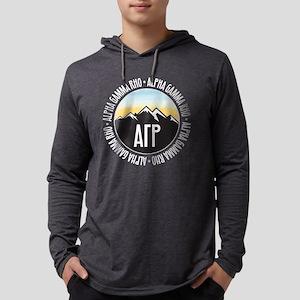 Alpha Gamma Rho Mountains Sunset Mens Hooded Shirt
