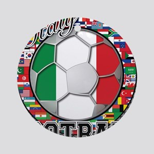 Italy Flag World Cup Football Ornament (Round)