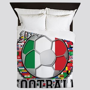 Italy Flag World Cup Football Queen Duvet