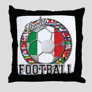 Italy Flag World Cup Football Throw Pillow