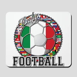 Italy Flag World Cup Football Mousepad