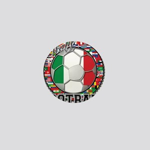Italy Flag World Cup Football Mini Button