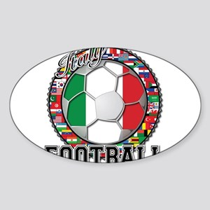 Italy Flag World Cup Football Sticker (Oval)