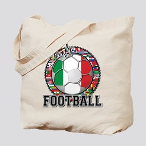Italy Flag World Cup Football Tote Bag