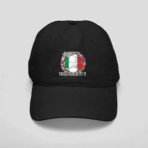 Italy Flag World Cup Football Black Cap