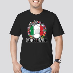 Italy Flag World Cup Football Men's Fitted T-Shirt
