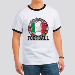 Italy Flag World Cup Football Ringer T