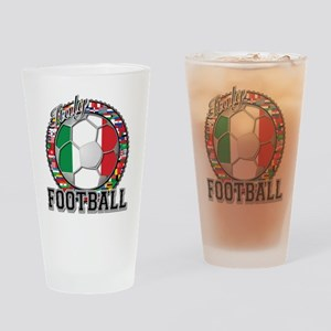 Italy Flag World Cup Football Drinking Glass