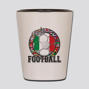 Italy Flag World Cup Football Shot Glass